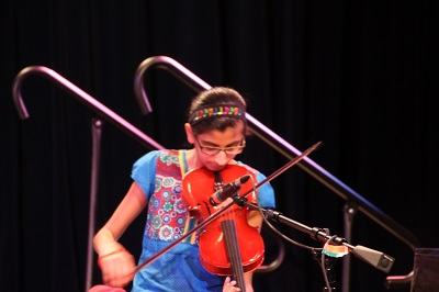 Sachi on the violin