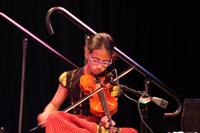 Sanjana on the violin