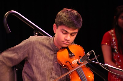Rohin on the violin