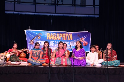 Our advanced students sing Bhaja Govindam and Bhagavad Gita